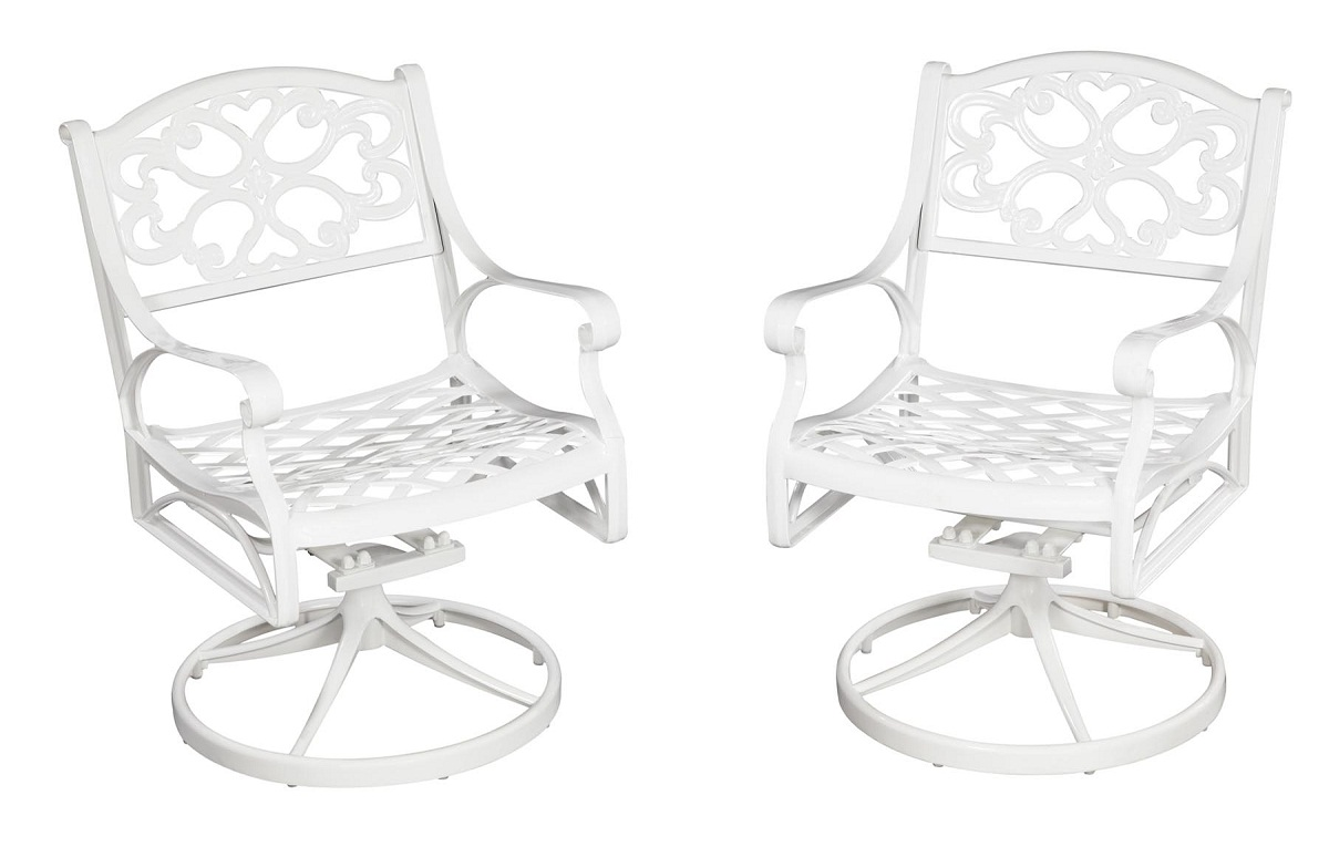 Home Styles Biscayne Swivel Chair - White