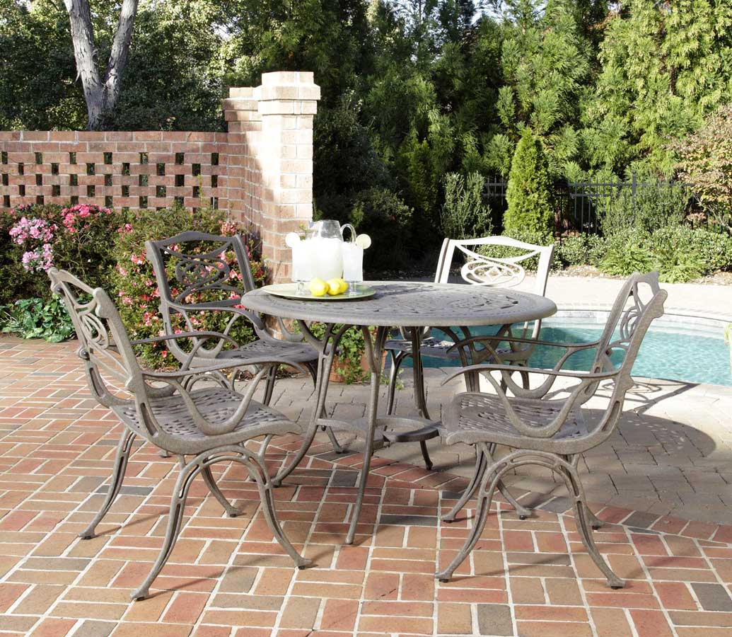 Home Styles Malibu 42 inch Round Dining Set - Taupe