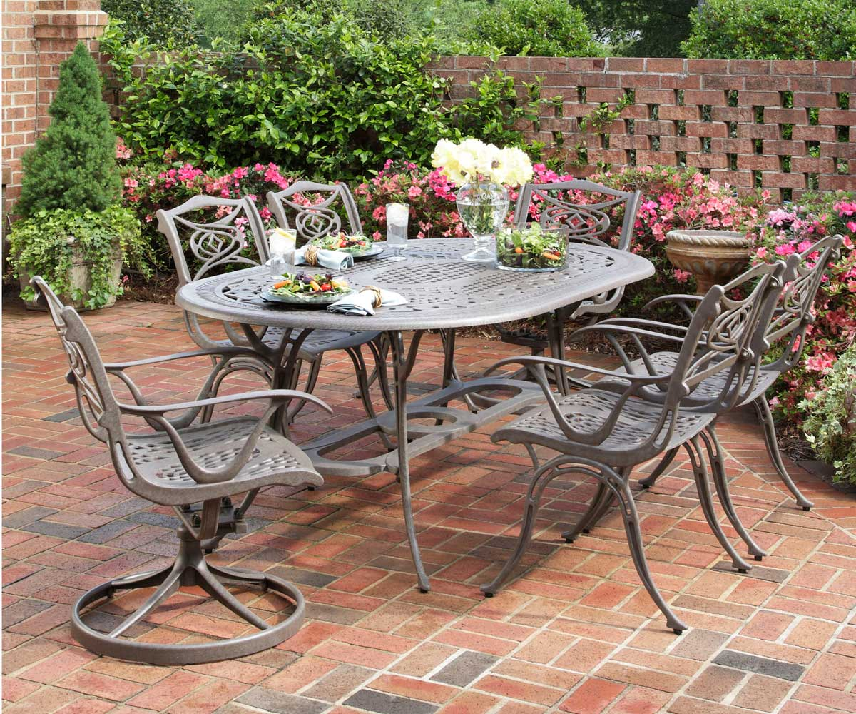 Home Styles Malibu 72 inch Oval Dining Set - Taupe