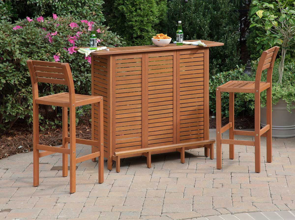 Home Styles Montego Bay Bar Set - Eucalyptus 5661-89-SET