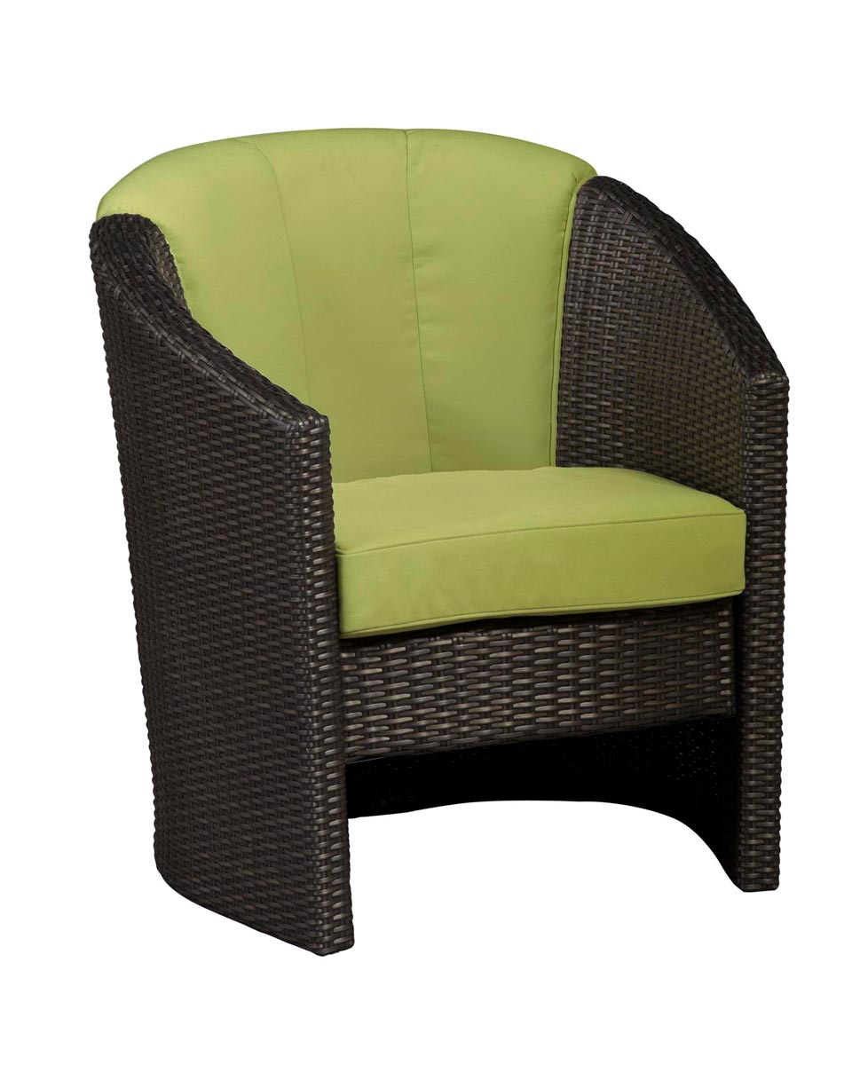 Home Styles Riviera Barrel Accent Chair - Green Apple