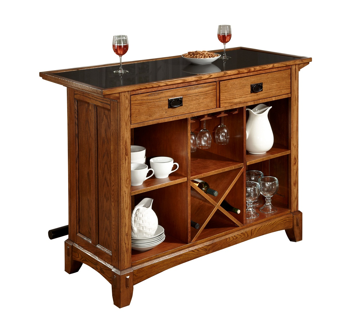 Design Home Styles Arts Crafts Bar Distressed Cottage Oak Product Photo