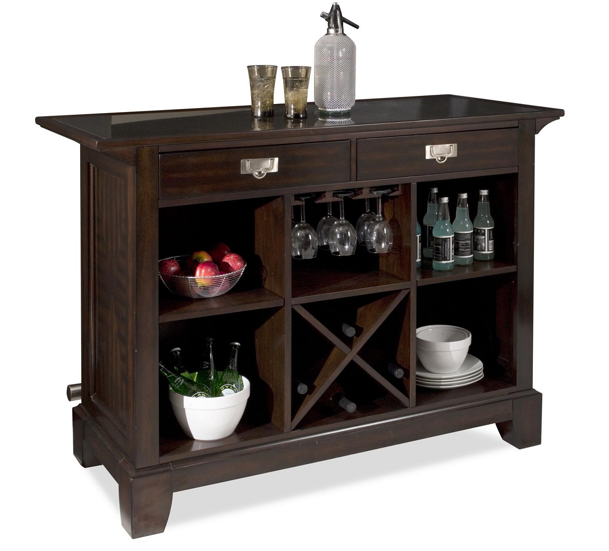 Quality Home Styles 5902 99 Rio Vista Bar Espresso at