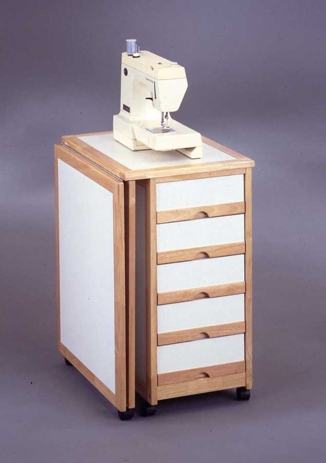 Home styles portable sewing and storage table white 88 5923 93 - Sewing table for small spaces design ...