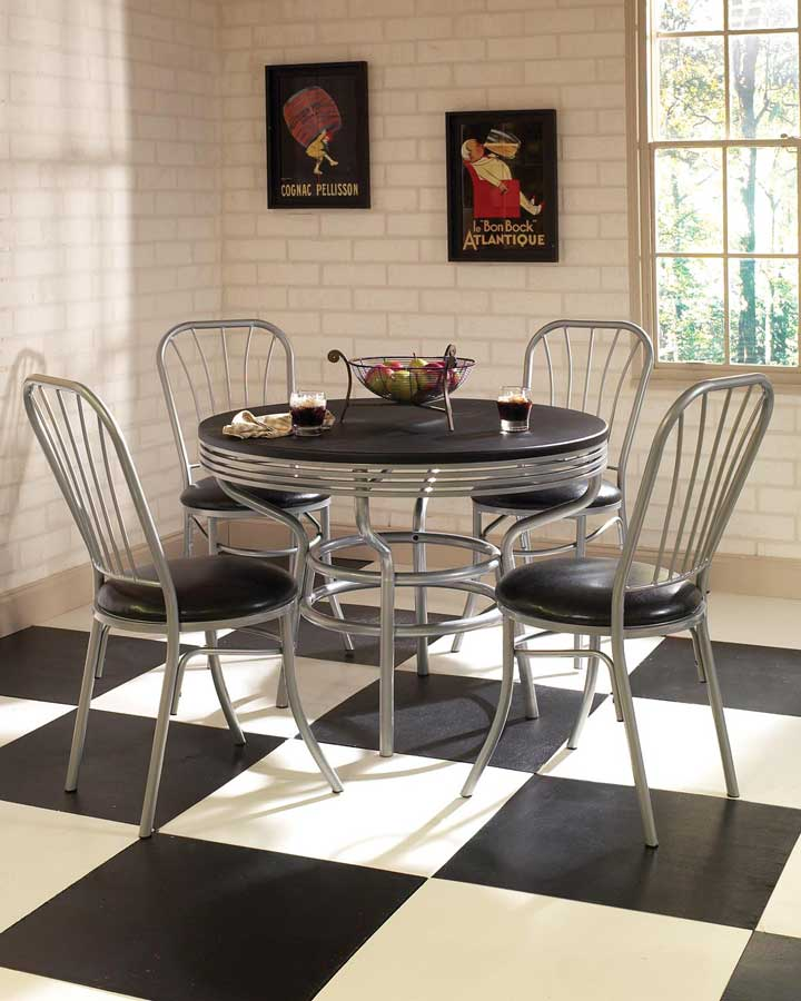 Home Styles Soda Shoppe Round Dinette Set - Black