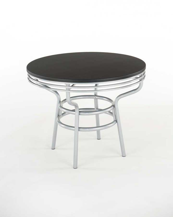 Home Styles Soda Shoppe Round Dinette Table - Black