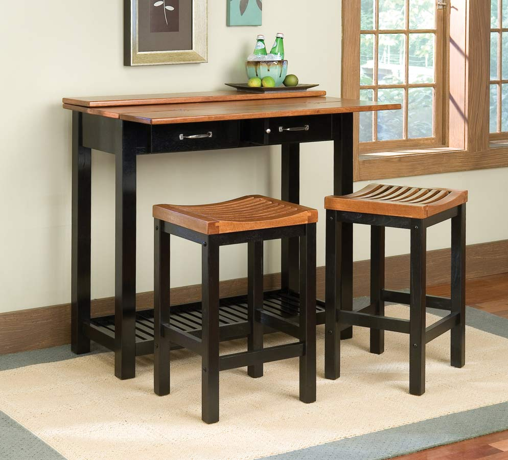 Home Styles Expandable Console Dining Collection - Black and Cottage Oak