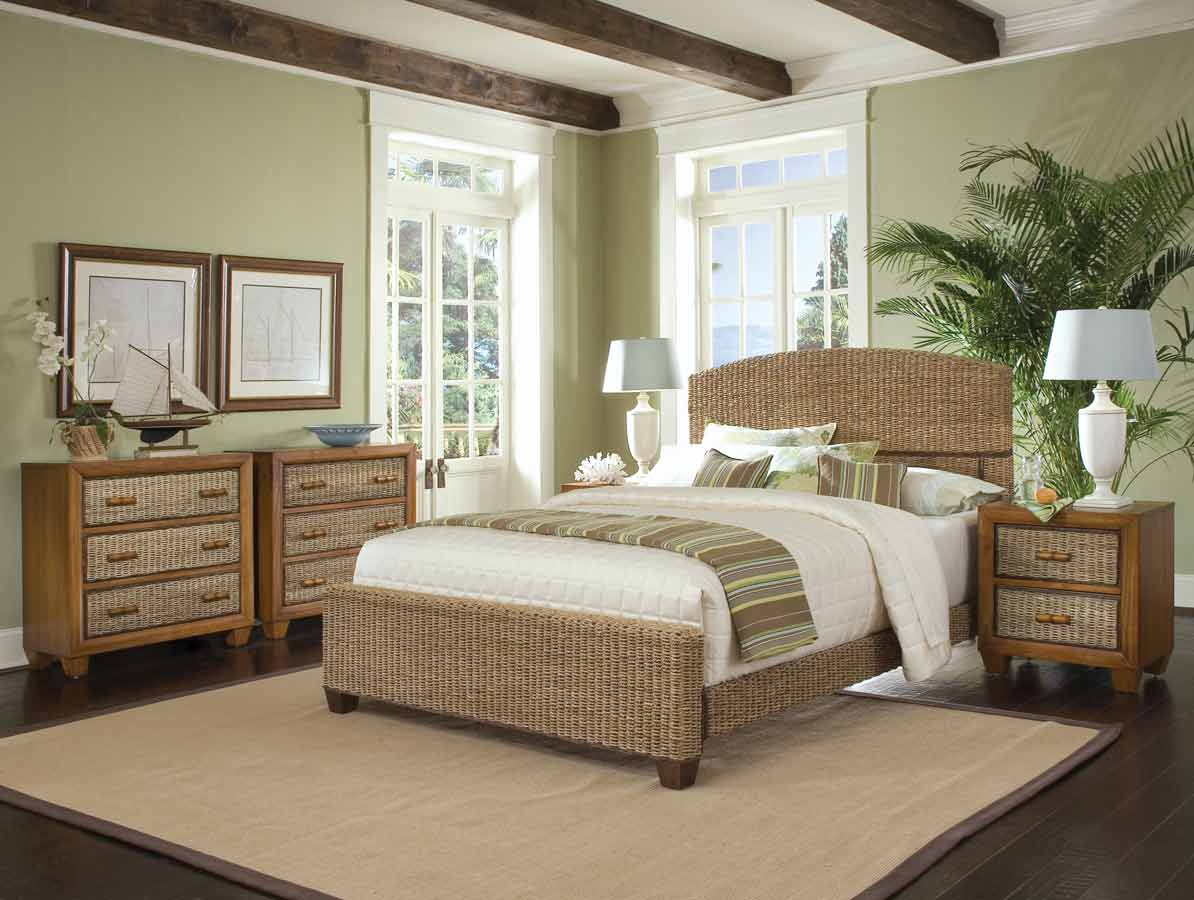 home styles cabana banana queen bed collection in a honey oak finish
