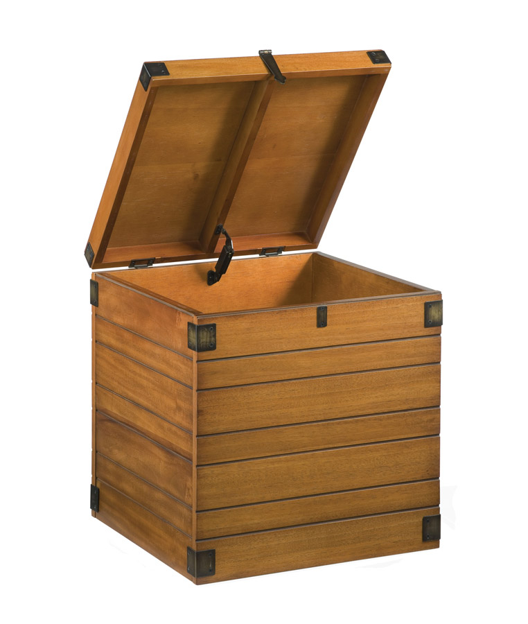 Home Styles Wooden Planked Small Storage Chest