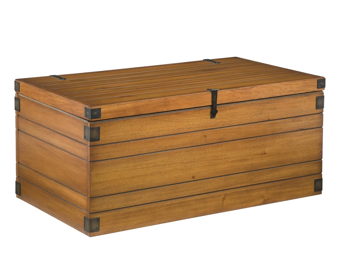 Home Styles Wooden Planked Large Storage Chest