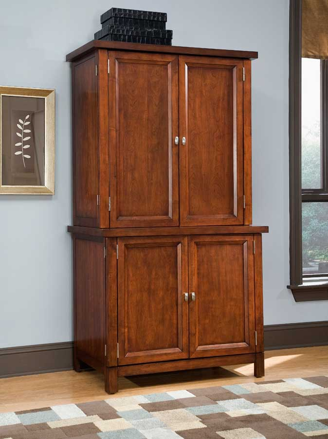 Hanover Compact Office Cabinet and Hutch - Home Styles