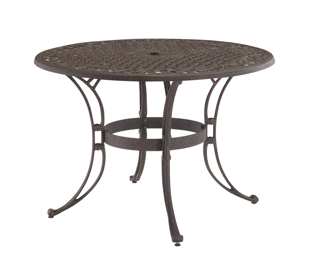 home styles rust brown 42 inch round outdoor dining table