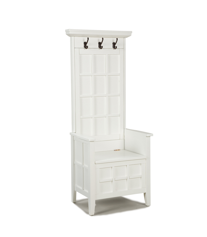 Ordinaire Home Styles Mini Hall Tree And Storage Bench   White