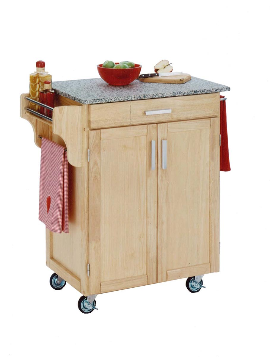 Home Styles Cuisine Cart SP Granite Top - Natural