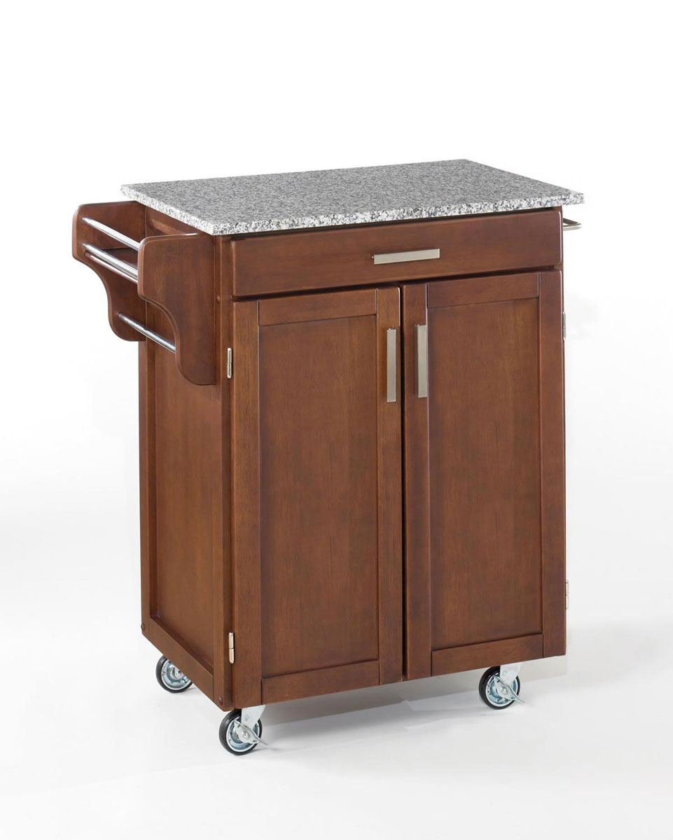 Home Styles Cuisine Cart SP Granite Top - Cherry