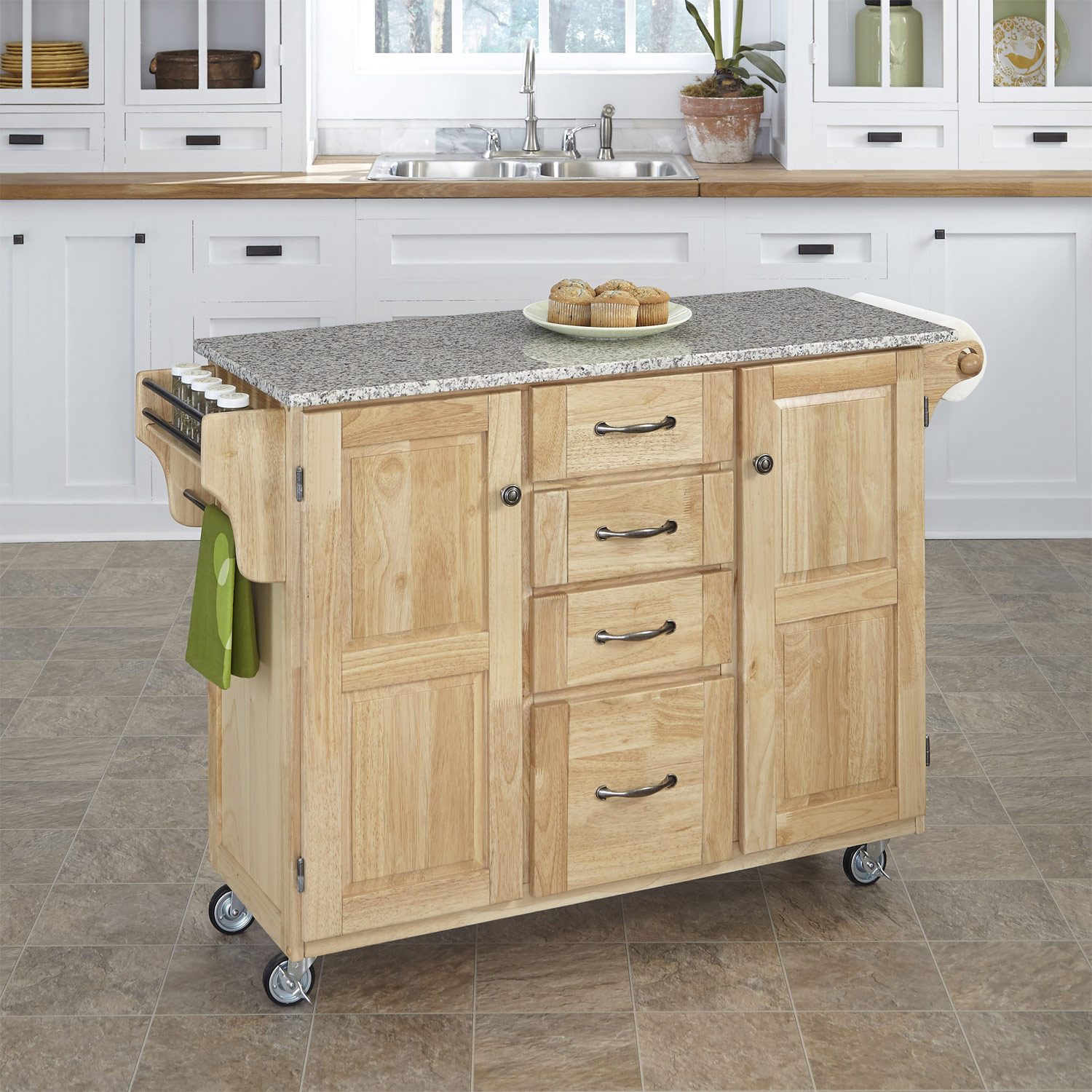Home Styles Create-A-Cart SP Granite Top - Natural