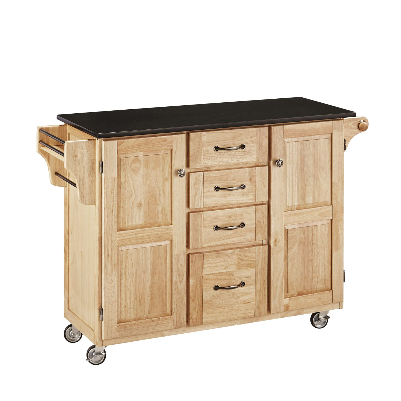 Home Styles Create-A-Cart Black Granite Top - Natural