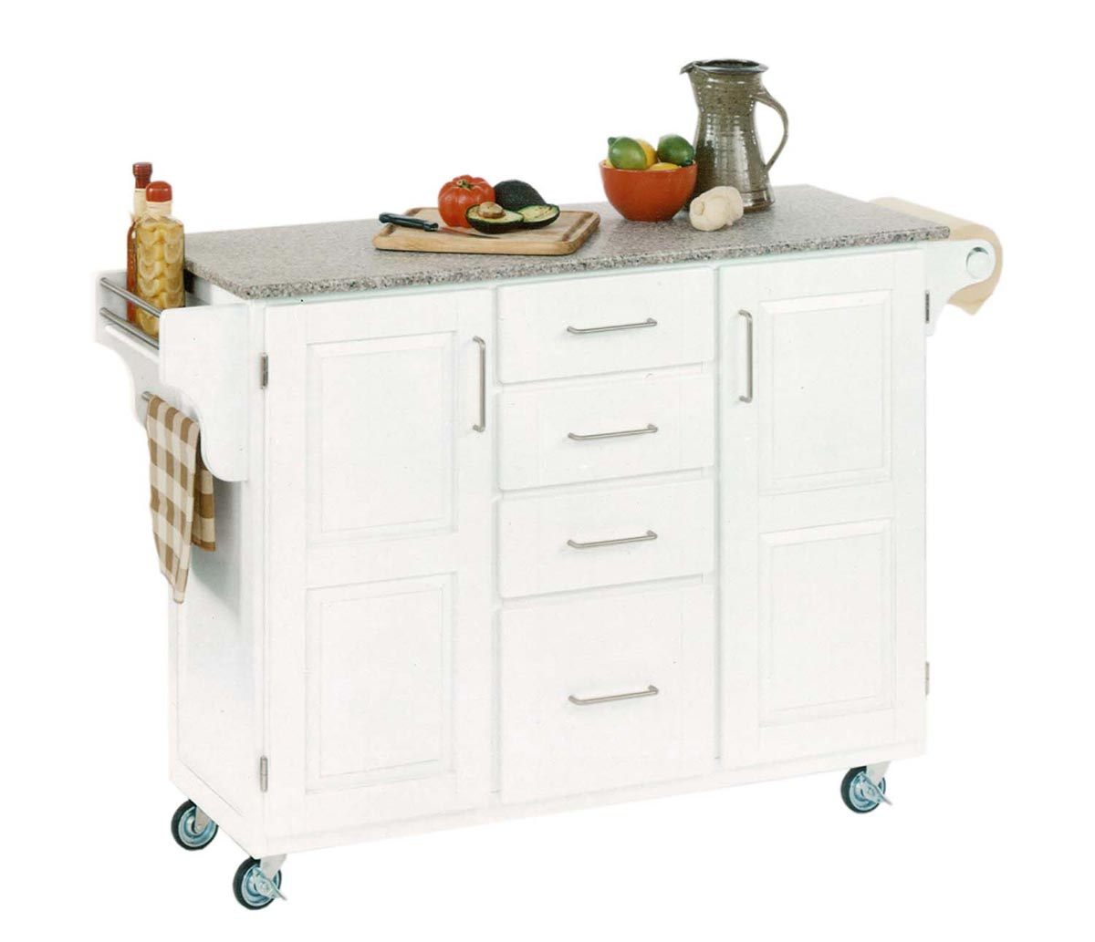 Home Styles Create-A-Cart SP Granite Top - White