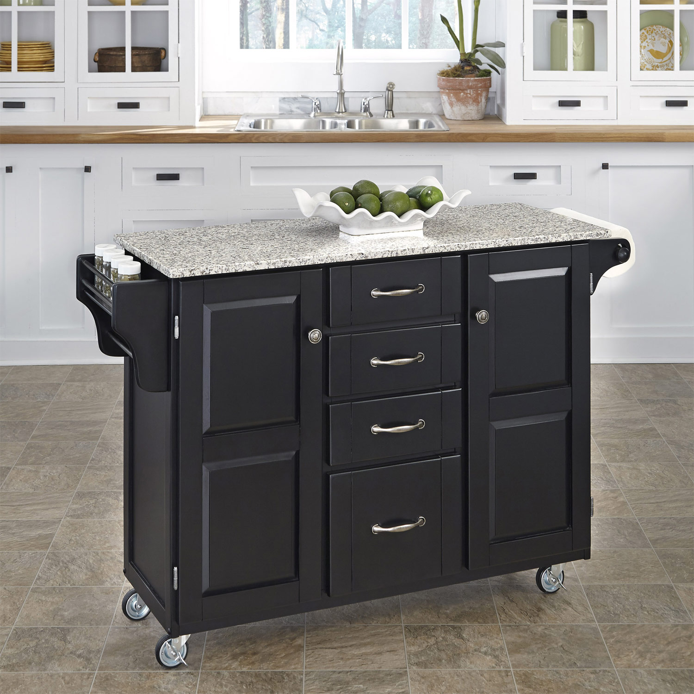 Home Styles Create-A-Cart SP Granite Top - Black