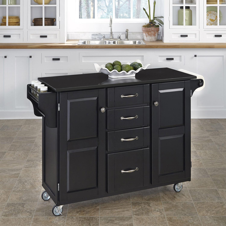 Home Styles Create-A-Cart Black Granite Top - Black