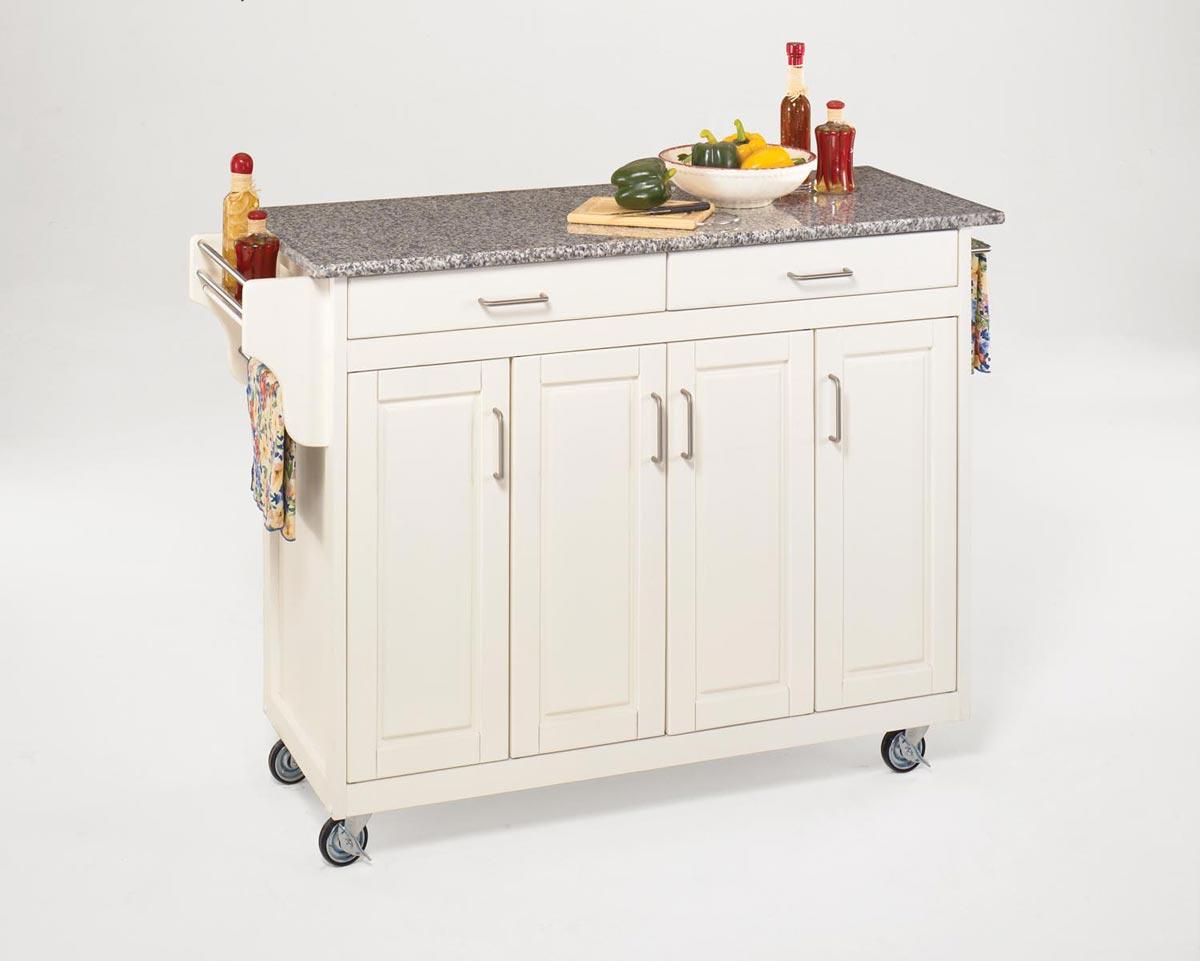 Home Styles Create-A-Cart SP Granite Top - White