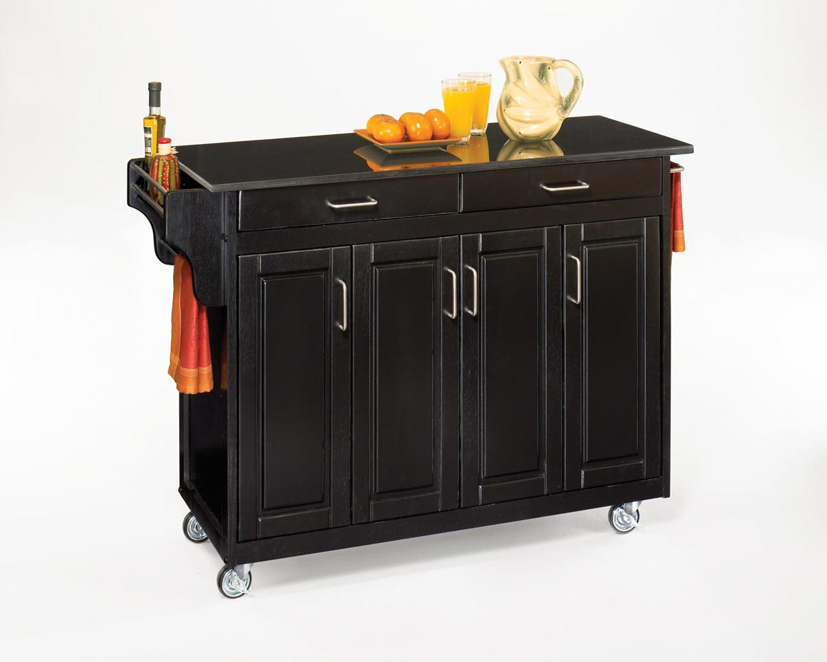 Home Styles Create-A-Cart Black Granite Top - Black