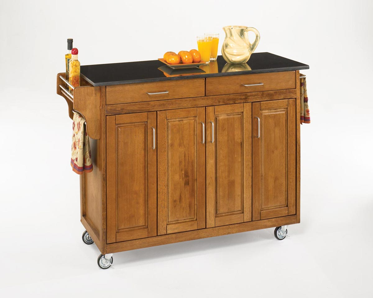 Home Styles Create-A-Cart Cottage OakFinish Black Granite Top - Cottage Oak