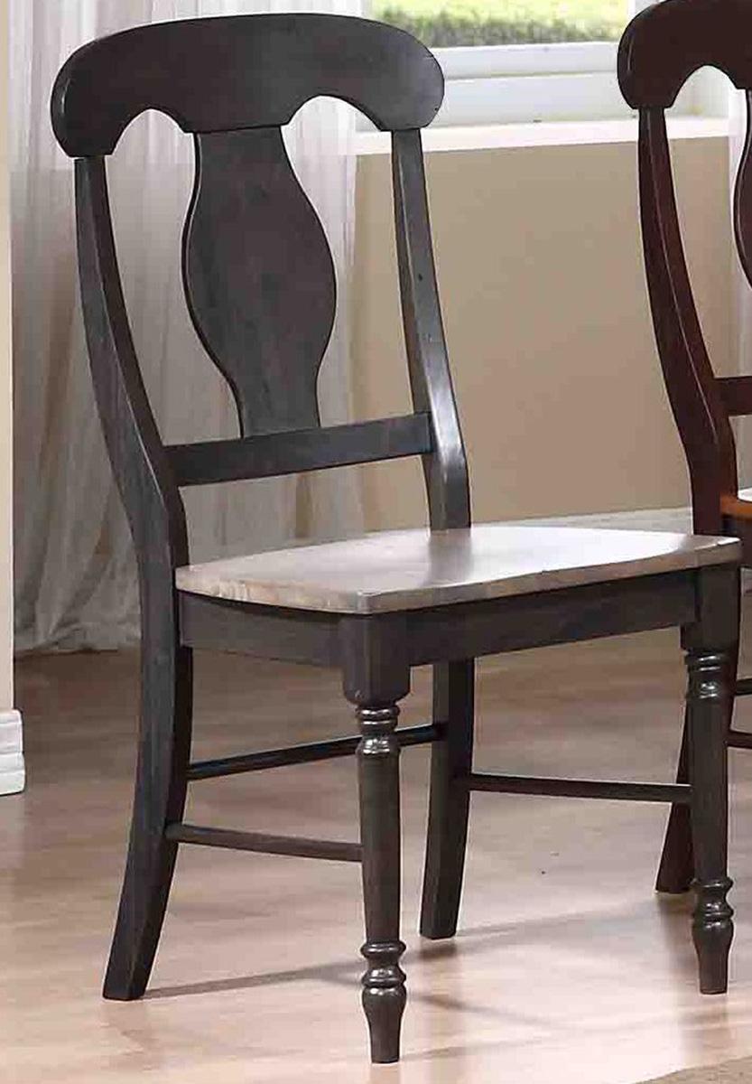 Iconic Furniture Napoleon Back Dining Chair - Grey Stone/Black Stone