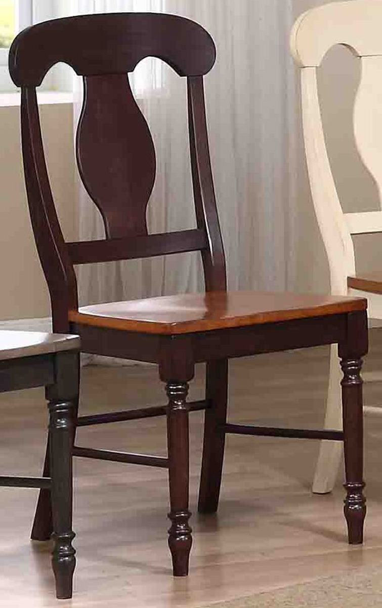 Iconic Furniture Napoleon Back Dining Chair - Whiskey/Mocha