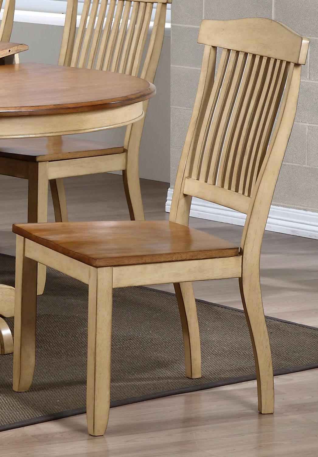 Iconic Furniture Open Slat Back Dining Chair - Honey/Sand