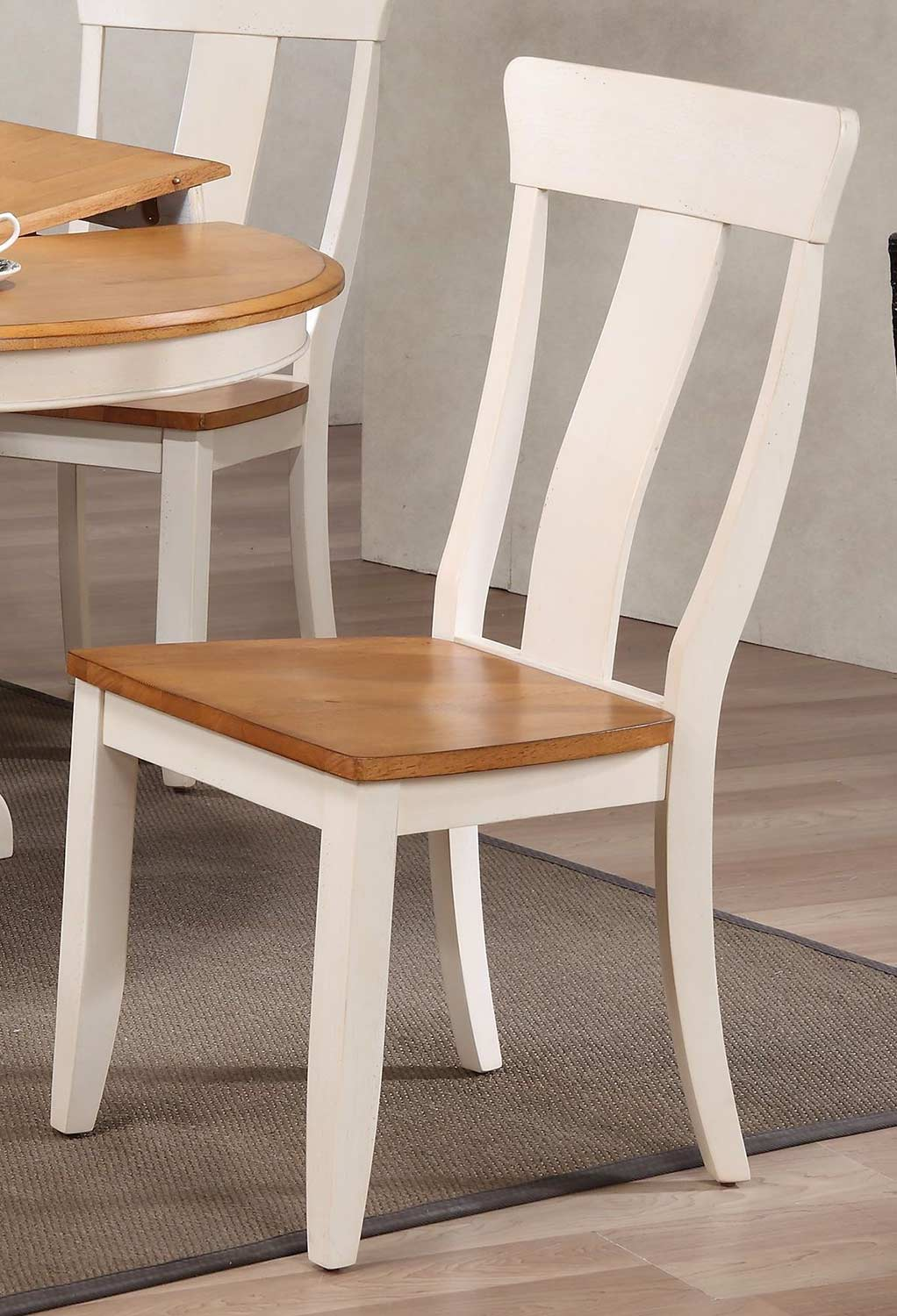 Iconic Furniture Panel Back Dining Chair - Caramel/Biscotti