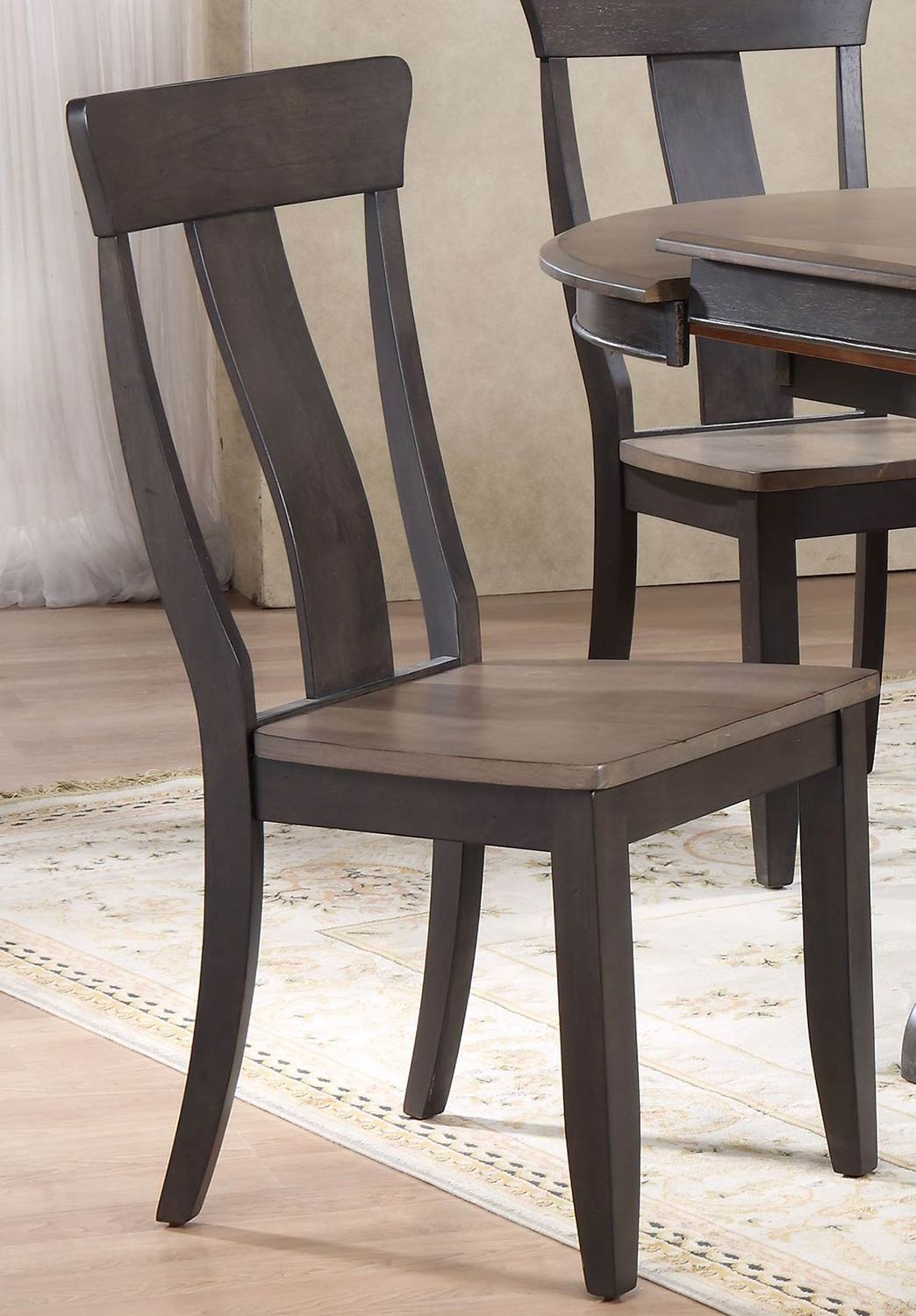 Iconic Furniture Panel Back Dining Chair - Grey Stone/Black Stone