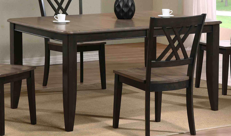 Iconic Furniture Rectangular Leg Dining Set With Double X