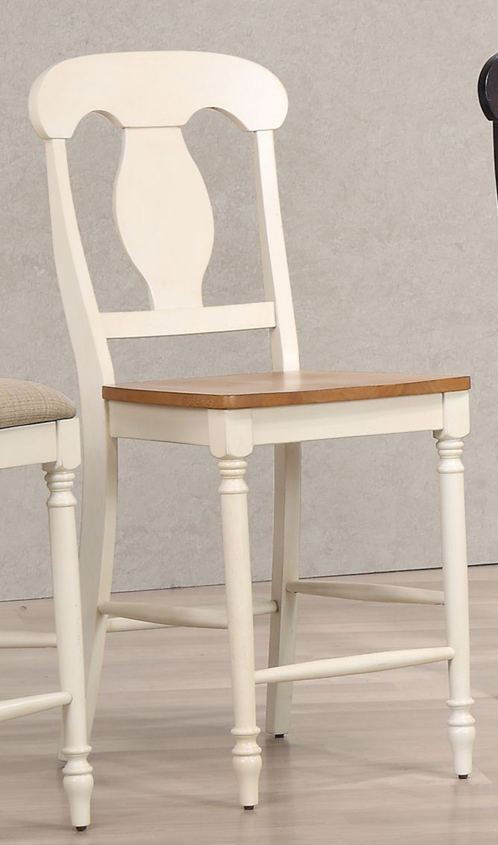 Iconic Furniture Napoleon Back 24-inch Counter Stool - Caramel/Biscotti