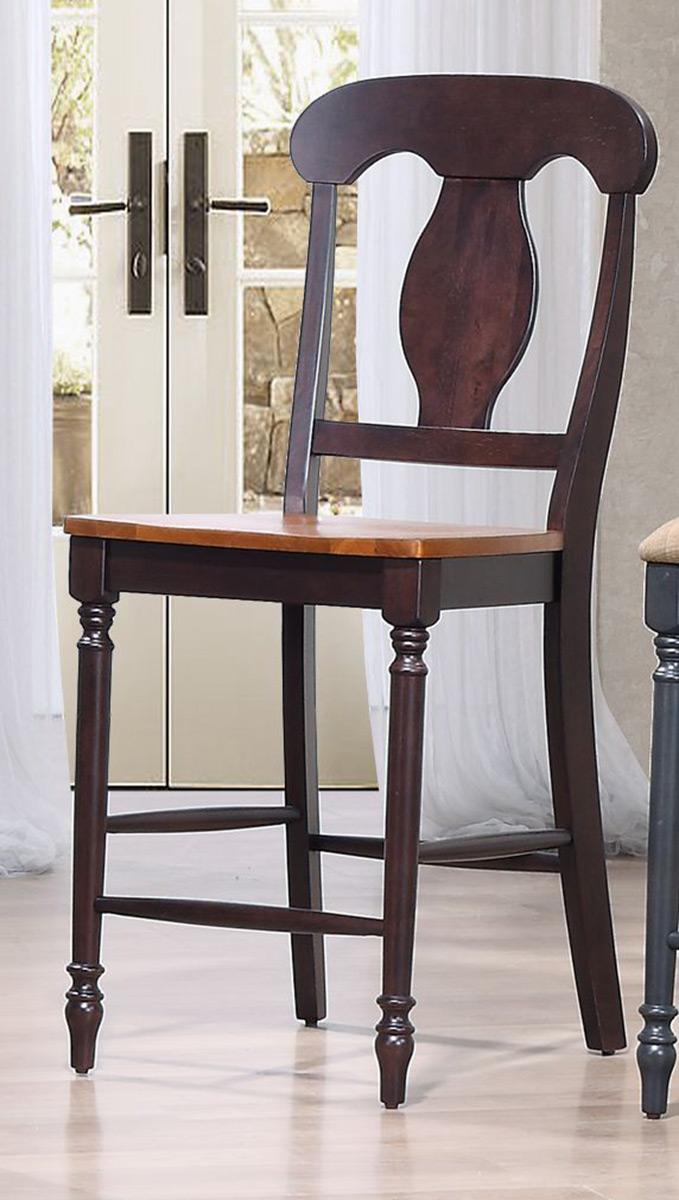 Iconic Furniture Napoleon Back 24-inch counter Stool - Whiskey/Mocha