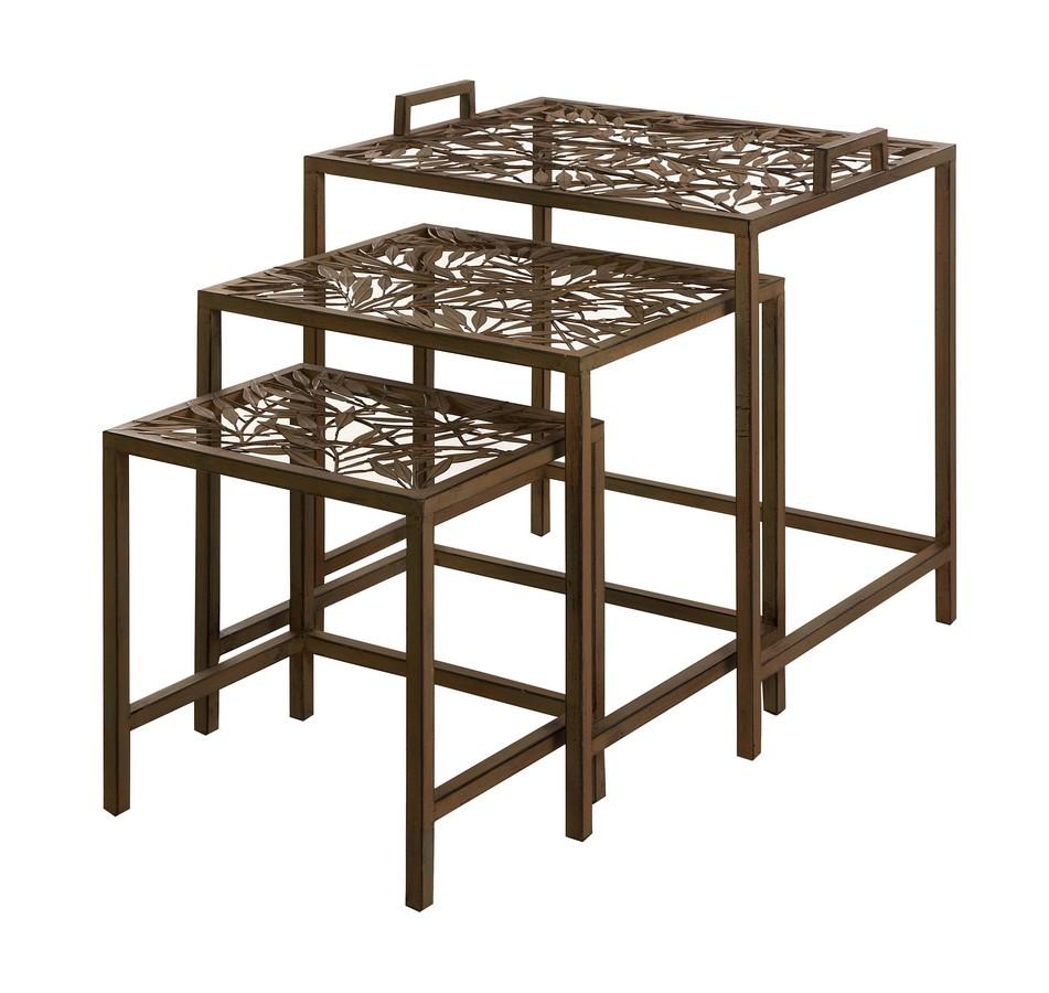 Imax mazatol iron nesting tables set of im at