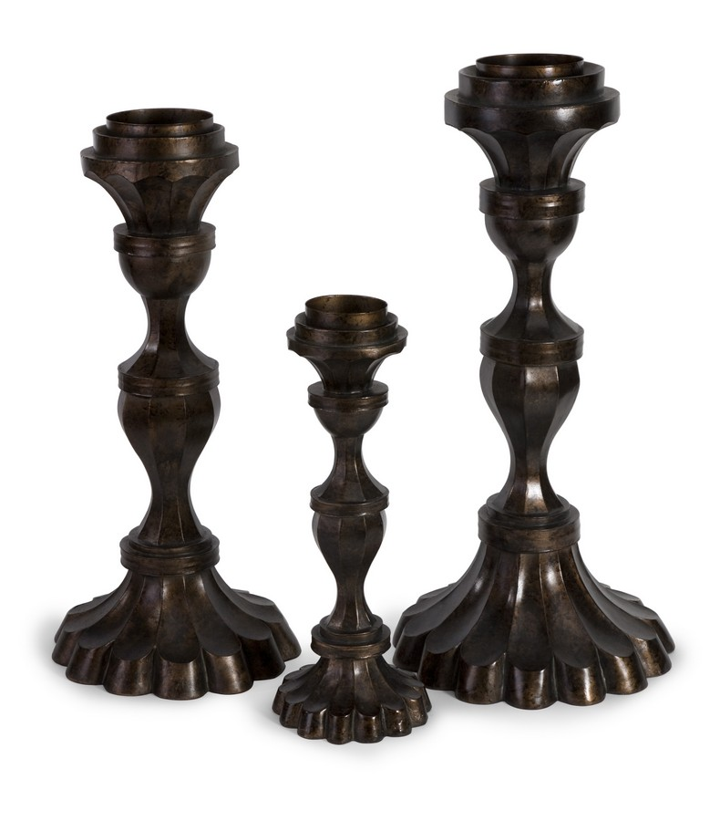 Metallic Candleholder Trio - Set of 3 - IMAX