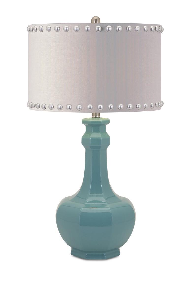 IMAX Essentials Reflective Ceramic Table Lamp