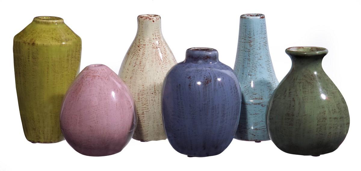 IMAX Mini Tuscany Vases - Set of 6 35004-6