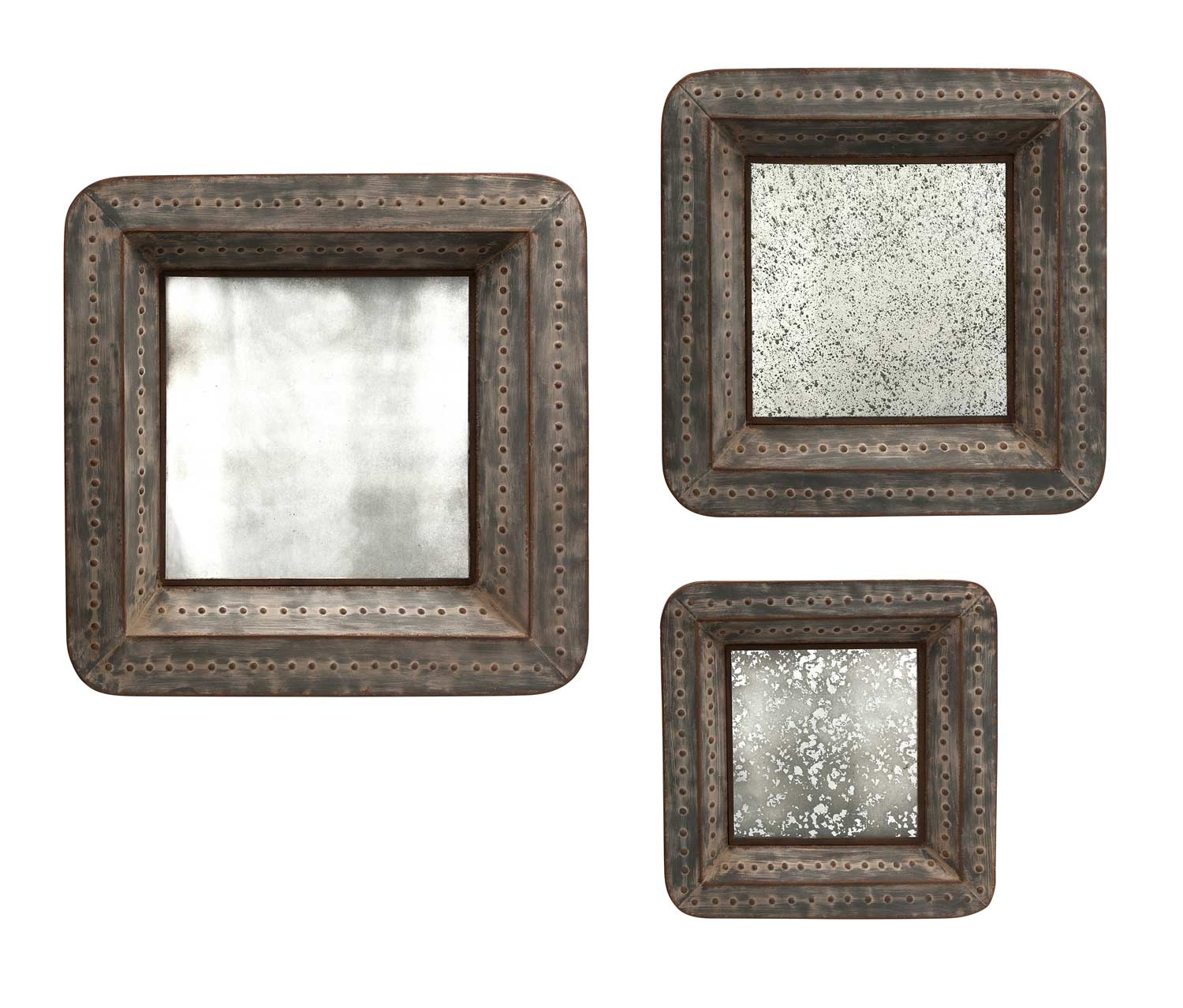 IMAX Jezant Mirror Tray Wall Decor - Set of 3