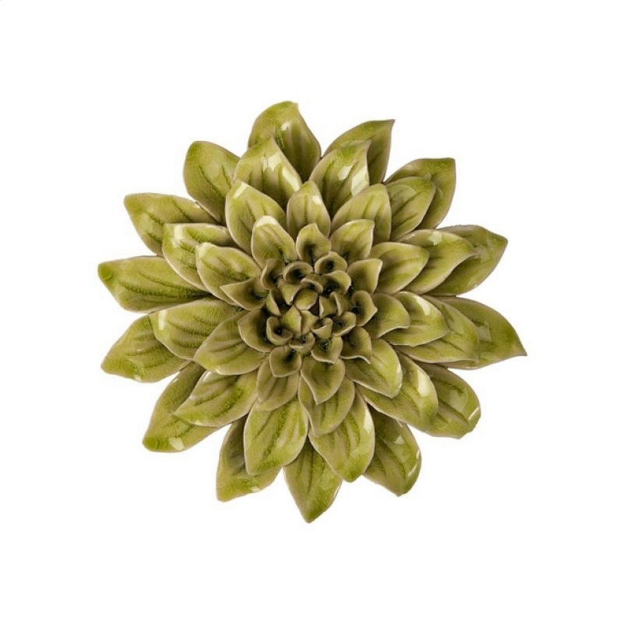 Imax isabella small ceramic wall decor flower im 64196 at for Decorate with flowers amazon
