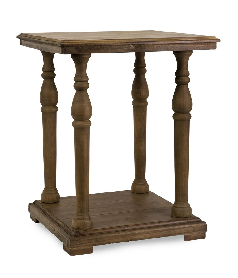 imax cameron wood accent table 68004