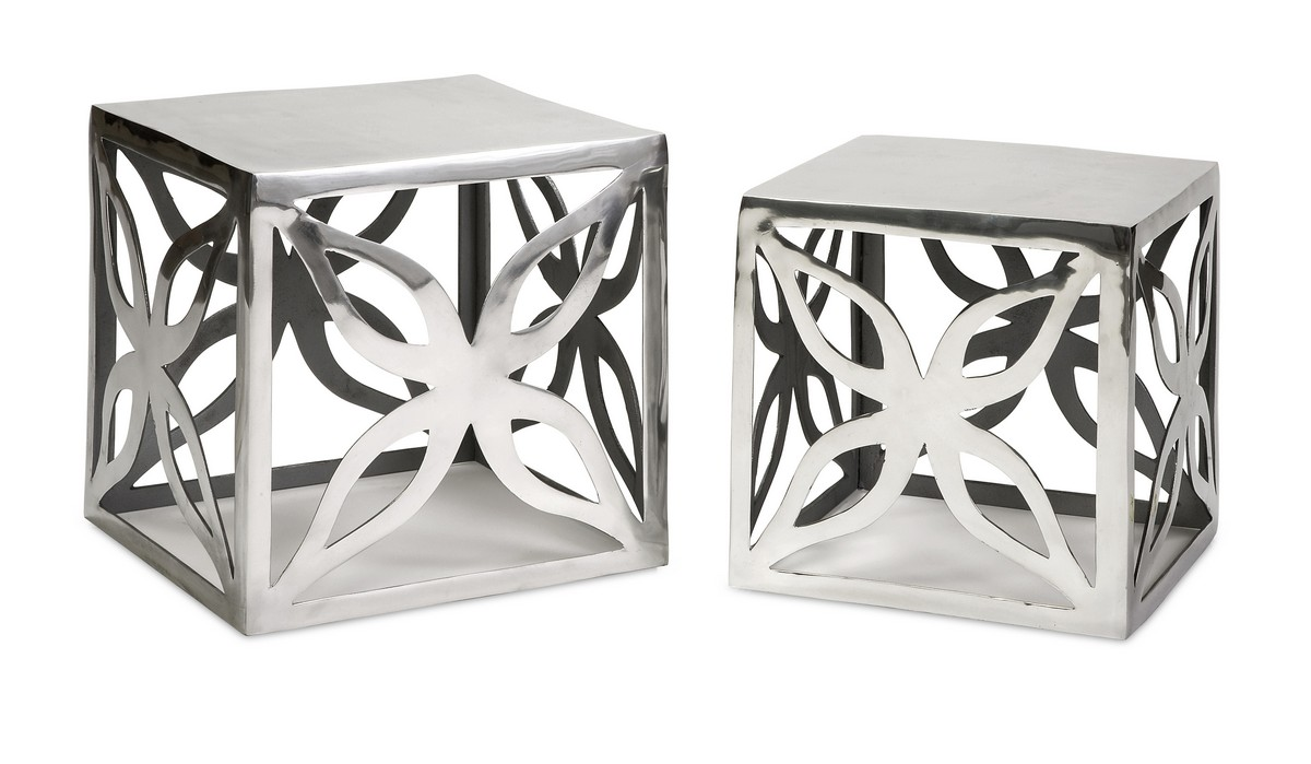 IMAX Lazio Aluminum Tables - Set of 2