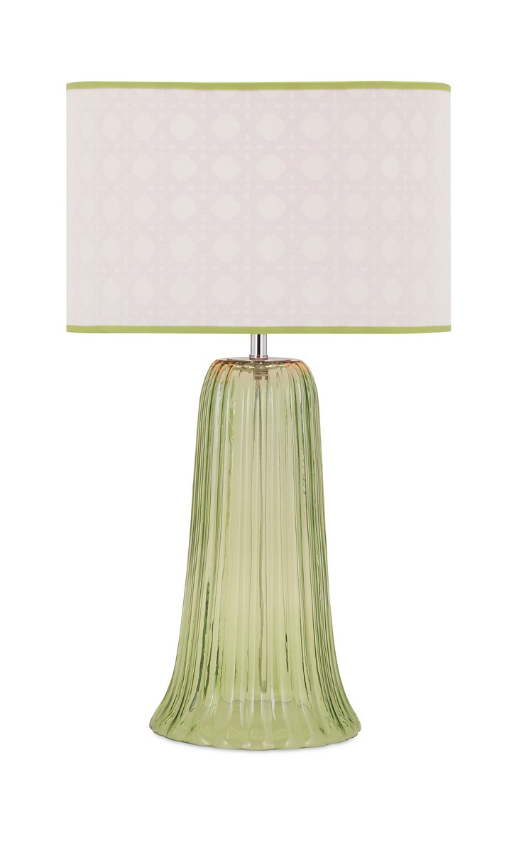 IMAX Palm Beach Glass Lamp
