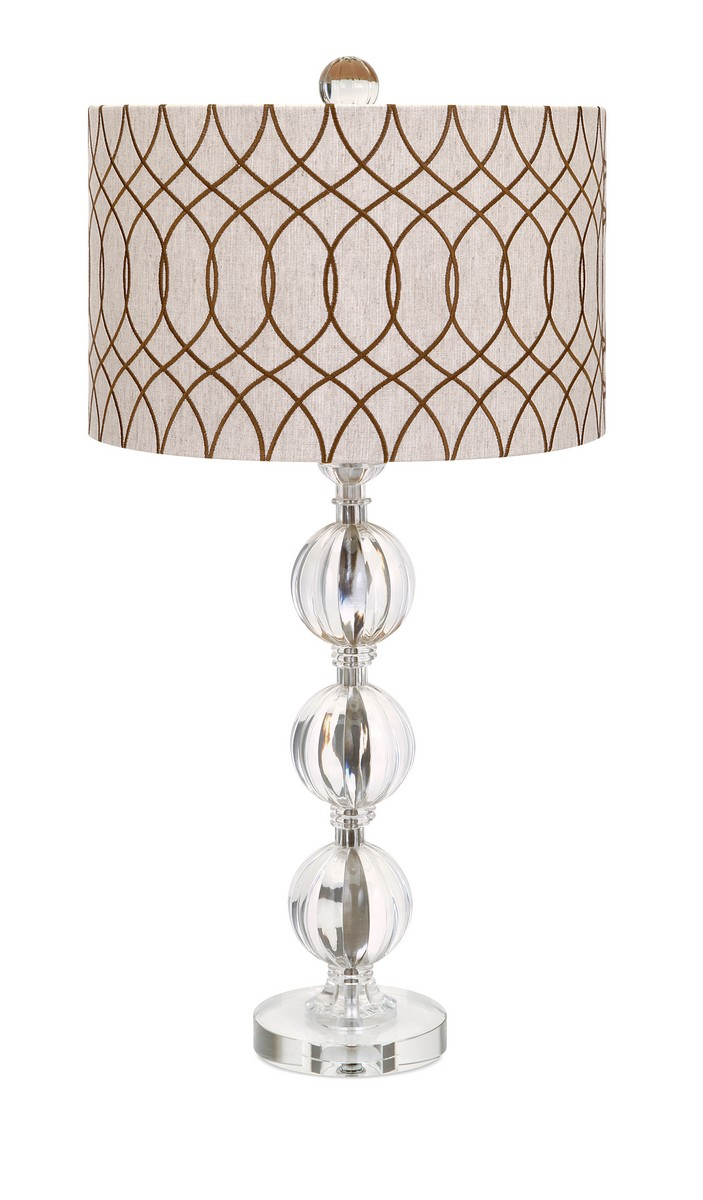 IMAX Avena Acrylic And Crystal Table Lamp
