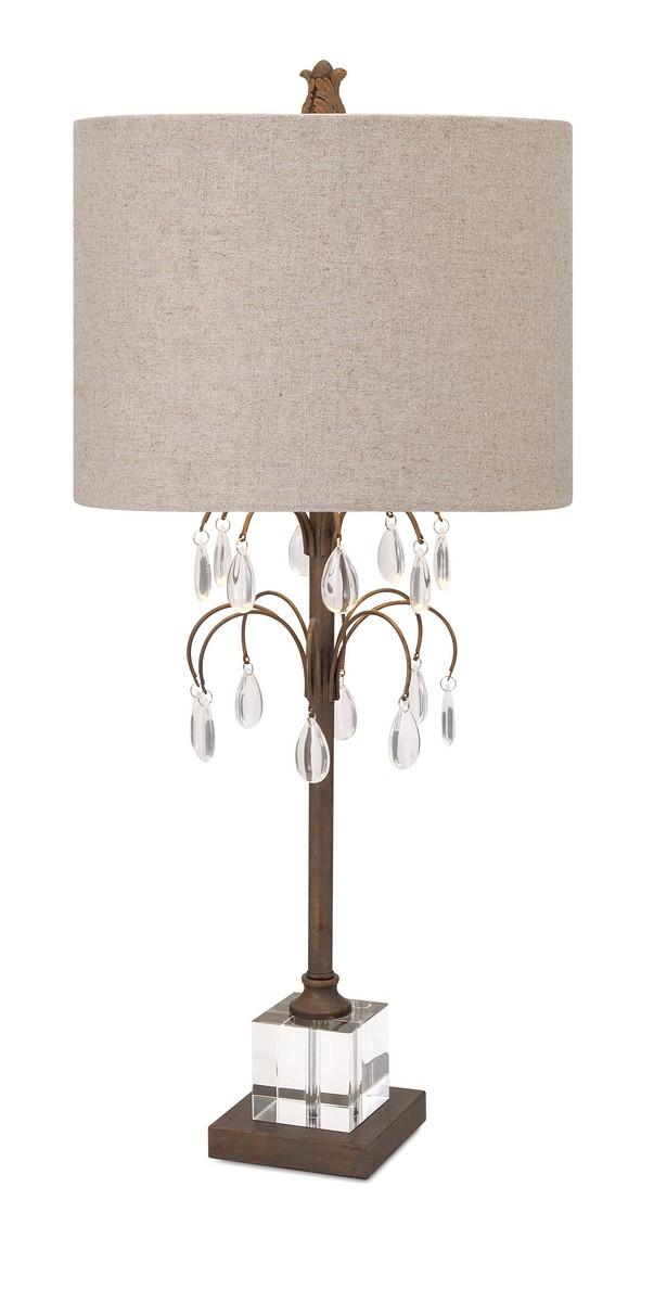 IMAX Windsor Crystal And Metal Table Lamp