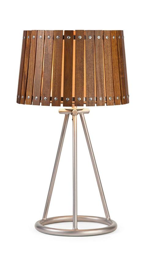 IMAX Acacia Wood Shade Table Lamp
