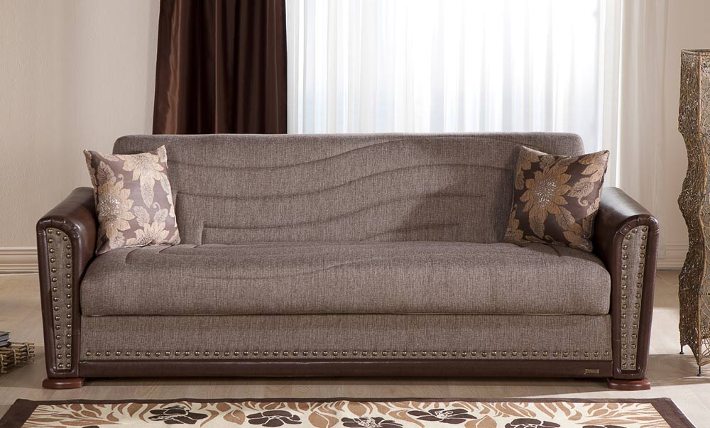 Istikbal Alfa Sleeper Sofa   Redeyef Brown