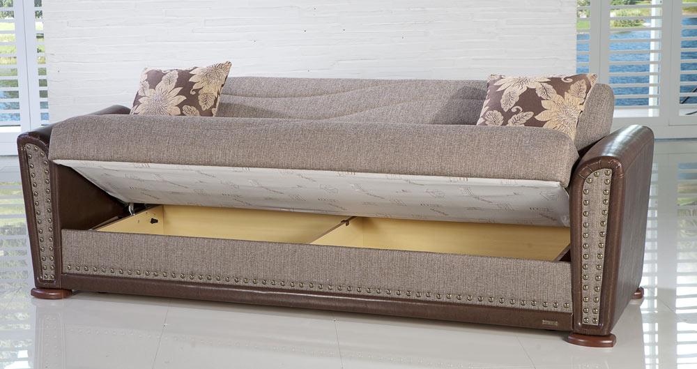 Istikbal Alfa Sleeper Sofa - Redeyef Brown