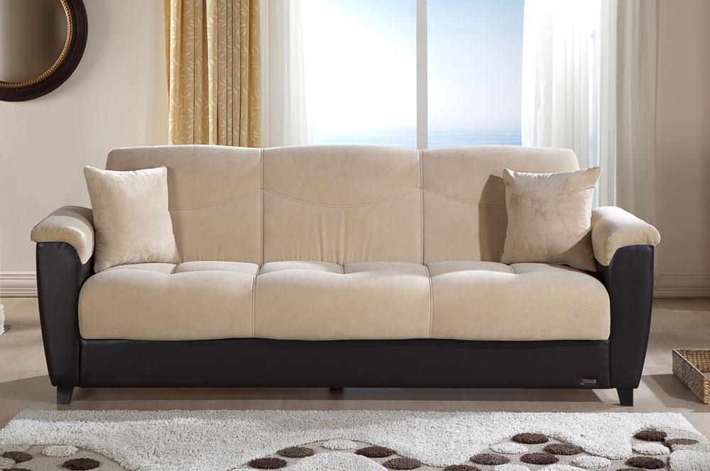 Istikbal Aspen Sleeper Sofa Soft Cream